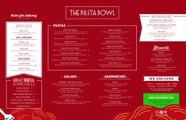 The Pasta Bowl Carryout Menu
